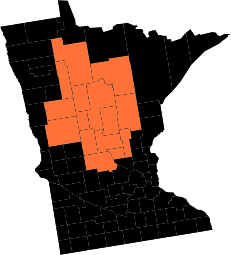 MN Counties Served by Becky's Pest Solutions